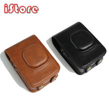 For FUJIFILM instax mini LiPlay Camera Bag Case PU Leather Vintage Shoulder Strap Pouch Camera Protection Carry Cover(China)