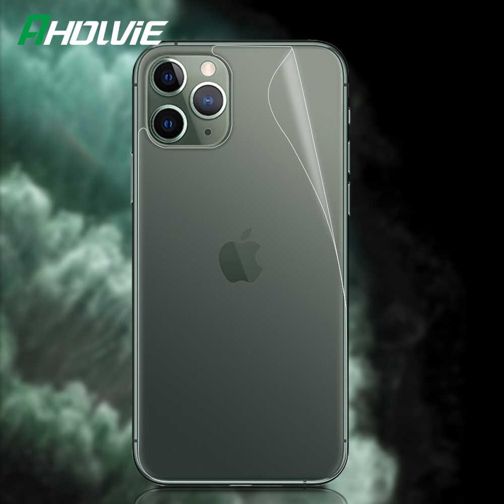 Ahowie przezroczysty przezroczysty tył ekranu HD błyszczący ochraniacz ochronny folia do apple iphone 11 Pro Max dla iphone 11 okładka
