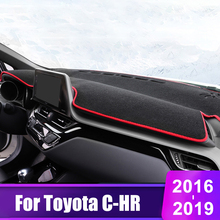 For Toyota CHR C HR C-HR 2016 2017 2018 2019 Car Dashboard Cover Mats Avoid Light Pad Instrument Platform Desk Carpets цена 2017