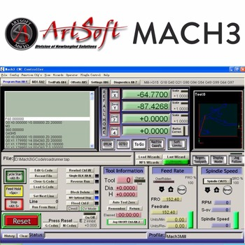 English/French Artsoft Mach3 Software CNC Engraving Control with License for Lathes, Mills, Routers, Lasers, Plasma, Engraver