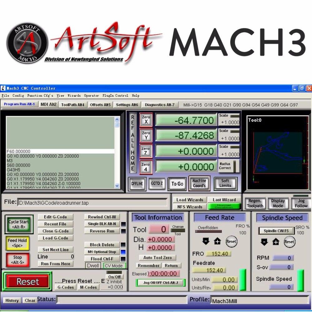 Обслуживание установки программного обеспечения для английского/французского программного обеспечения Artsoft Mach3 CNC для токарных станков, ме...