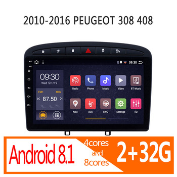 autoradio android 2+32G for Peugeot 408 308 2010 2011 2012 2013 20142015 2016 car radio coche audio parktronic stereo Peugeot408 image