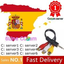 ТВ ресивер cccam европа HD DVB-S2 Испания линии на 1 год поддержка ТВ ресивер GTmedia V8 Nova V7S V9 Freesat V7 Ccam бесплатно тест