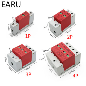 Protector contra sobretensiones para el hogar, dispositivo de descarga de tensión, AC SPD 1P 2P 3P 4P 20 ~ 40KA 30KA ~ 60KA 385V, OEM, 1 ud. 2