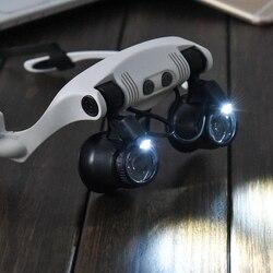 10x 15x 20x 25x multi-power noszenie okularów oczy oświetlone okulary powiększające zegarek naprawa lupa