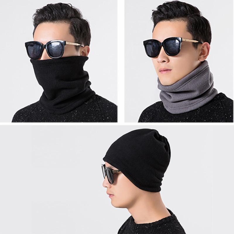 3 in 1 Multifunction Winter Neck Warmer Unisex Fleece Warmer Neck Ring Scarf Winter Hat Outdoor Sports Face Mask Scarves