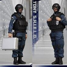 цена на In stock MICTOYS NO.002 1/6 stealth version Aegis Bureau uniform version Iron Man Tony movable doll