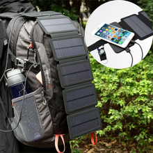 10W Sun Energy Folding Solar Cells Charger Portable USB Output Devices Outdoor Adventure Portable Solar Panels for Phone 5V 2A