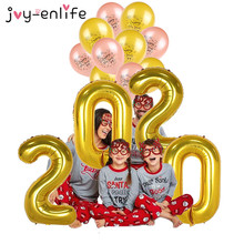 Happy New Year 2020 Foil Balloon Set 2019 Merry Christmas Eve Party Decorations For Home Ornaments New Year Natal Party Ballon цена