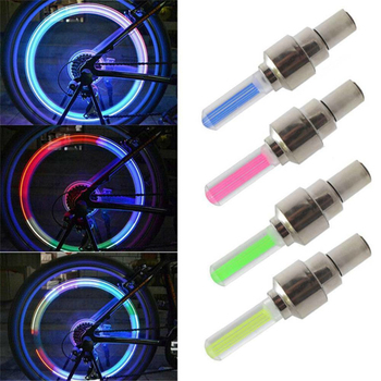 2Pcs Neon Lights Tyre Wheel Valve Cap Light LED Flash Car Tire Valve Caps Air Cover Tire Rim Valve Wheel Stem Cap Bike Light image