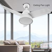 36 Inch 24W LED Ceiling Fan Cold White Lights With Remote Control 3 Blades Ceiling Fan For Home Indoor Decoration