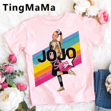Kawaii Jojo Siwa Kids Clothes Summer Top Cartoon T Shirt Girls Tops Funny Anime Casual T-shirt Fashion Graphic Children Clothes