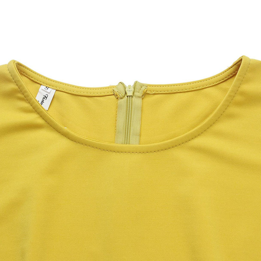 vestido de verão manga moda midi