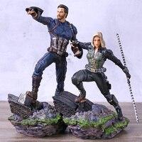Avengers Infinity War Black Widow / Captian America PVC Statue Figure Collection Model Toy