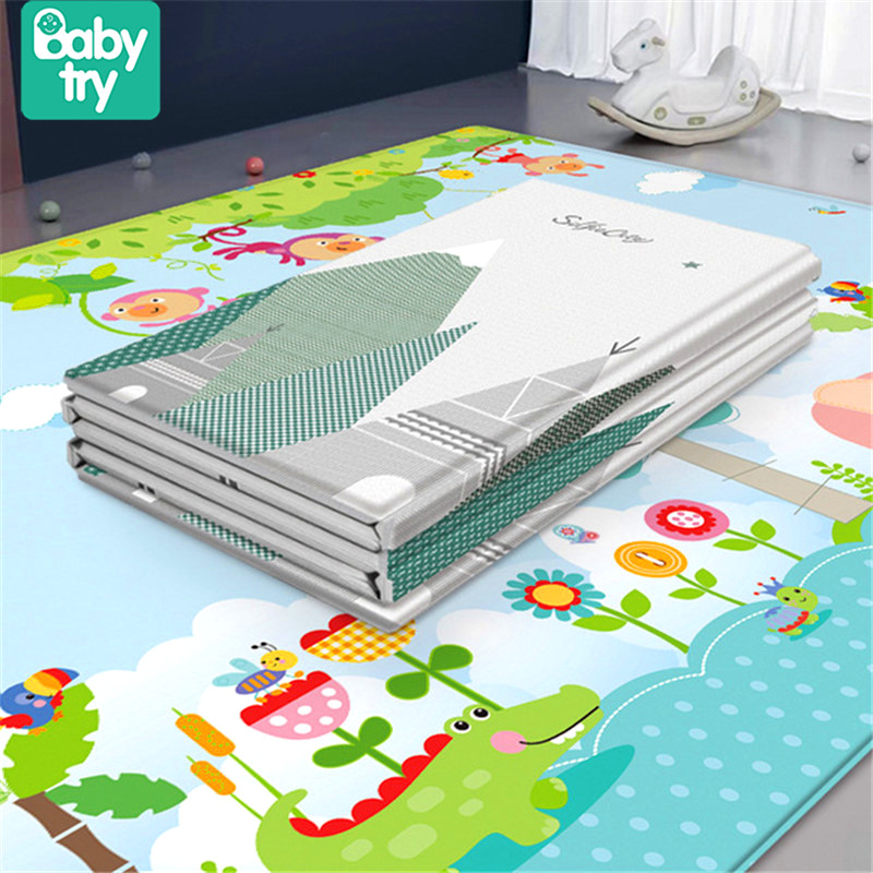 200x180 Baby Play Mat Large Eco-Friendly Foldable Crawling Playmat Soft Carpet Play Mat Baby Toys For Children Mat Kid Rug