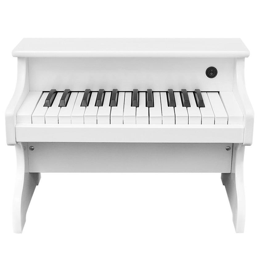 25-key crianças teclado eletrônico de madeira elétrica