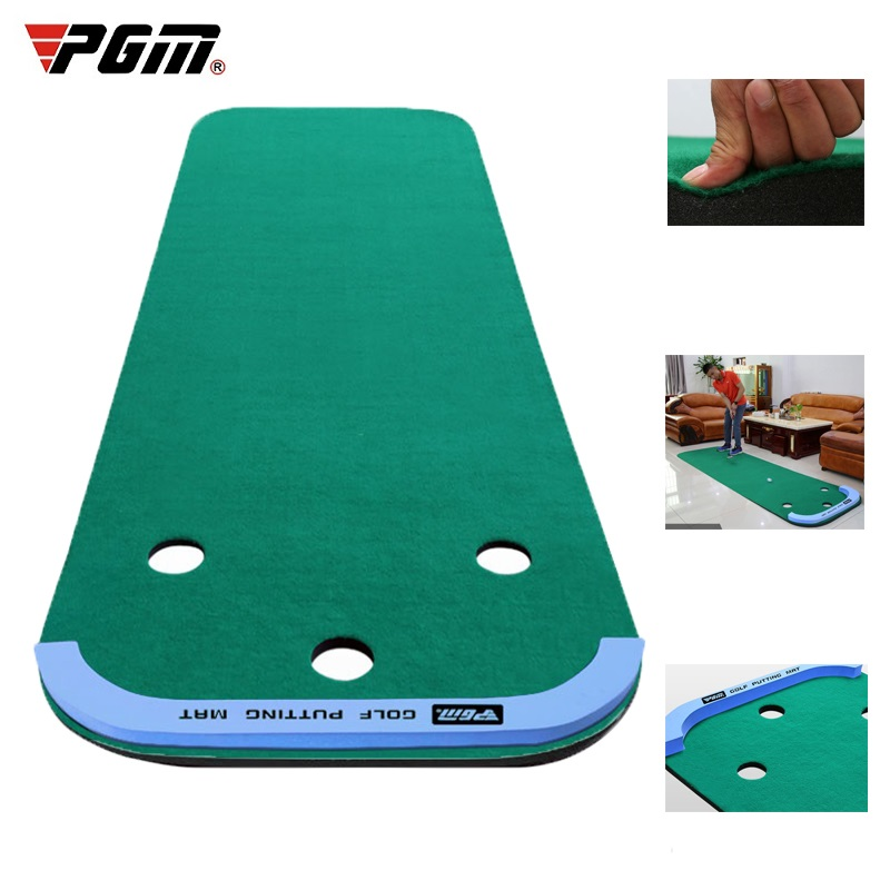 PGM Mini Golf Putting Green Indoor Portable Golf Practice Putting Trainer Mat Exercises Blanket Sports Practice Mat