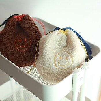 Bolsa de compras coreana Polar bolsas de niños para llevar al hombro organizador de pequeñas cosas bolsa de almacenamiento Draw String Organization
