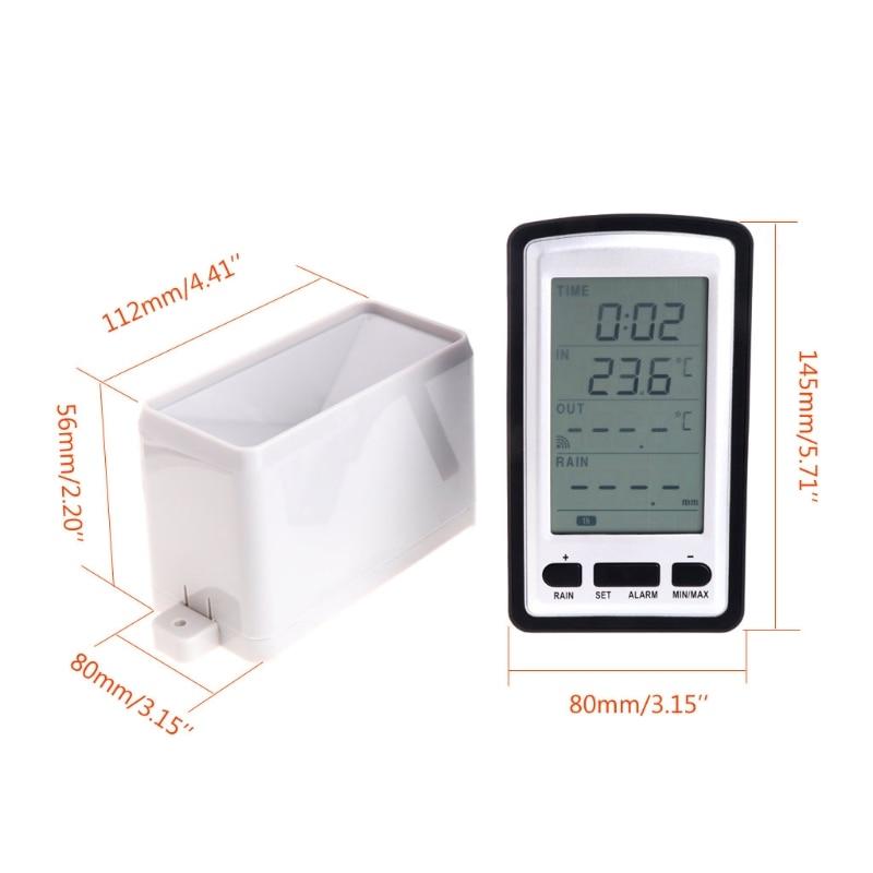 temperatura estação meteorológica chuvas estatísticas gravador