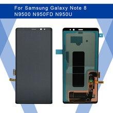 לסמסונג גלקסי הערה 8 N9500 LCD AMOLED מסך תצוגת מסך + מגע פנל Digitizer עצרת לסמסונג תצוגת מקורי