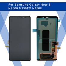 Dla SAMSUNG Galaxy NOTE 8 N9500 LCD ekran AMOLED ekran + panel dotykowy przetwornik analogowo cyfrowy do Samsunga wyświetlacz oryginalny
