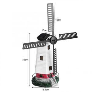 Image 4 - שמש מופעל מגדלור מסתובב גן אור בית קישוט קישוט שמש LED טחנת רוח אור מערכת