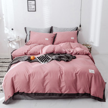 Yimeis Duvet Cover Set Nordic Queen Bed Sets With Ruffle Nordic King Cover Sets With Bedskirt BE45333(China)
