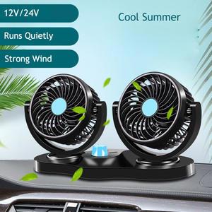 Swing-Fan Ventilation-Board Interior-Accessories Car 12V/24V 360 Summer Dual-Fan Degrees-Round
