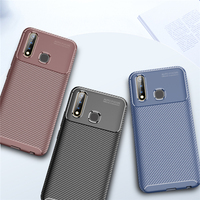 style protective For Vivo Y19 Case Business Style Silicone Rubber Shell Coque TPU Back Phone Cover For Vivo Y19 Protective Case For Vivo Y19 (1)