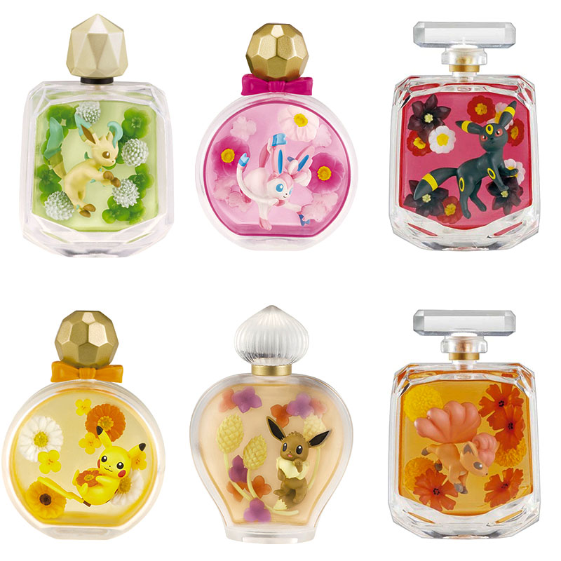 Re-ment Pokemon Figures Perfume Bottle Box Elf Rement Pocket Monster Doll Toys Action Blind Box Collection Pikachu Eevee Mew