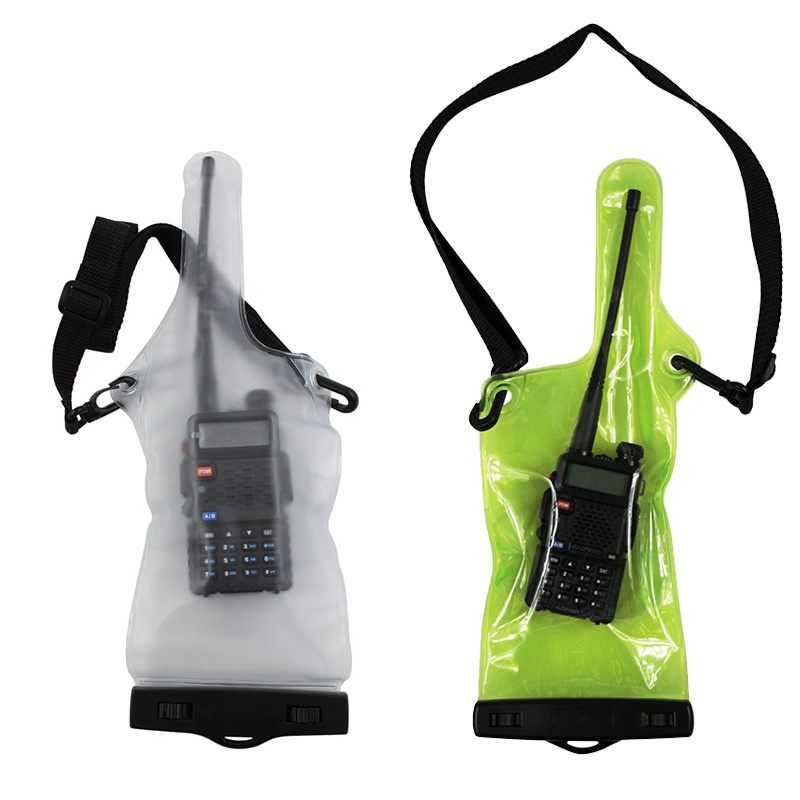 Portable Waterproof Bag Case Pouch For Walkie Talkie Two-Way Radios Full Protector Cover Holder With Lanyard