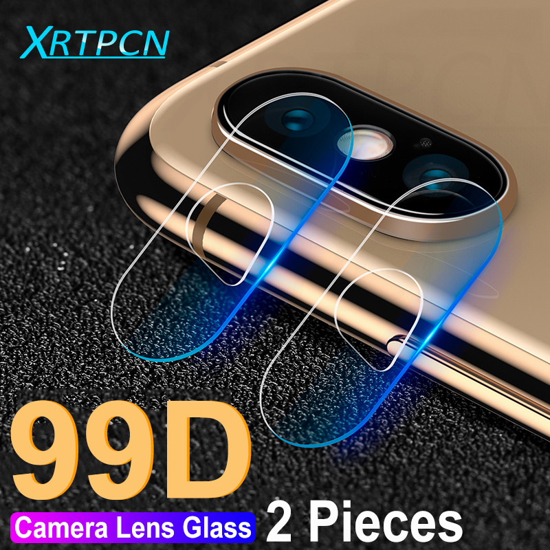 99D Back Lens Protective Glass on the For iPhone X XS Max XR Xs 7 8 6 6S Plus 7 8 X Camera Screen Protector Tempered Glass Film image