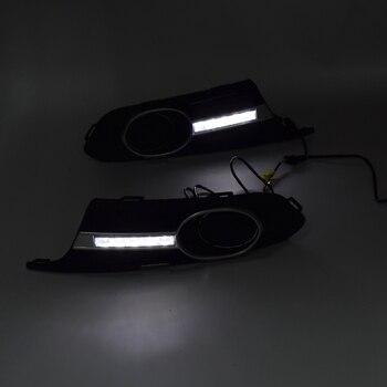 Car Styling LED Car DRL Daytime Running Lights Fog Light for Jetta Sagitar MK6 2012-2014