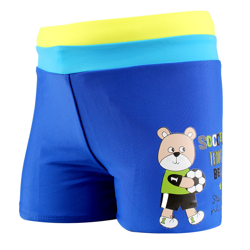 Children AussieBum Quick-Dry Shorts Students Cartoon Middle And Large Boys' swimming trunks