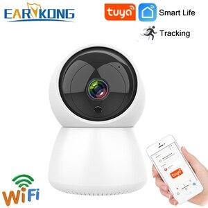 Image 1 - EARYKONG caméra Tuya, Tuyasmart caméra connectée IP HD 720P, wi fi, moniteur, interphone, Rotation, Vision nocturne, application Android et IOS
