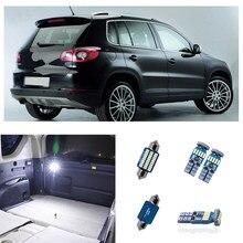 12 Uds Canbus luz Interior libre de Error blanco bombillas LED de coche Kit de las luces de la matrícula para Volkswagen Tiguan 2009-2013, 2014, 2015