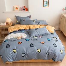 Avocado Heart Cartoon Bedding Set King Size Children Cute Duvet Cover Single Double Queen King Size