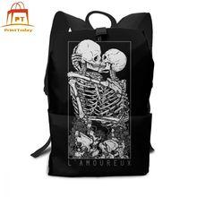 Crânio mochila crânio mochilas de alta qualidade multi purpose saco adolescente rua tendência padrão masculino sacos femininos