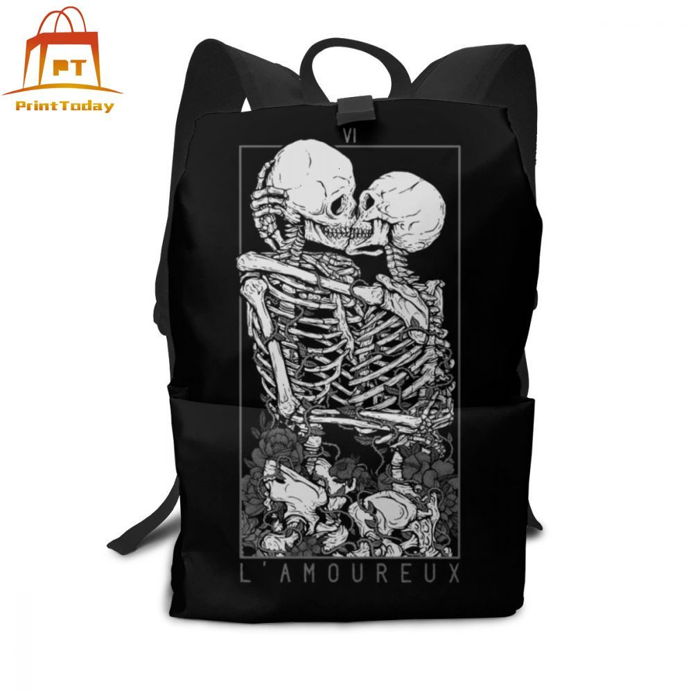 Skull Backpack Skull Backpacks High Quality Multi Purpose Bag Teen Street Trend Pattern Men - Women Bags