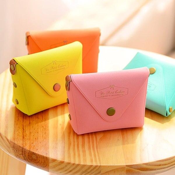0344 Korean-style Cute Change Packet Coins Key PVC Box Macarons Purse Logo Customizable