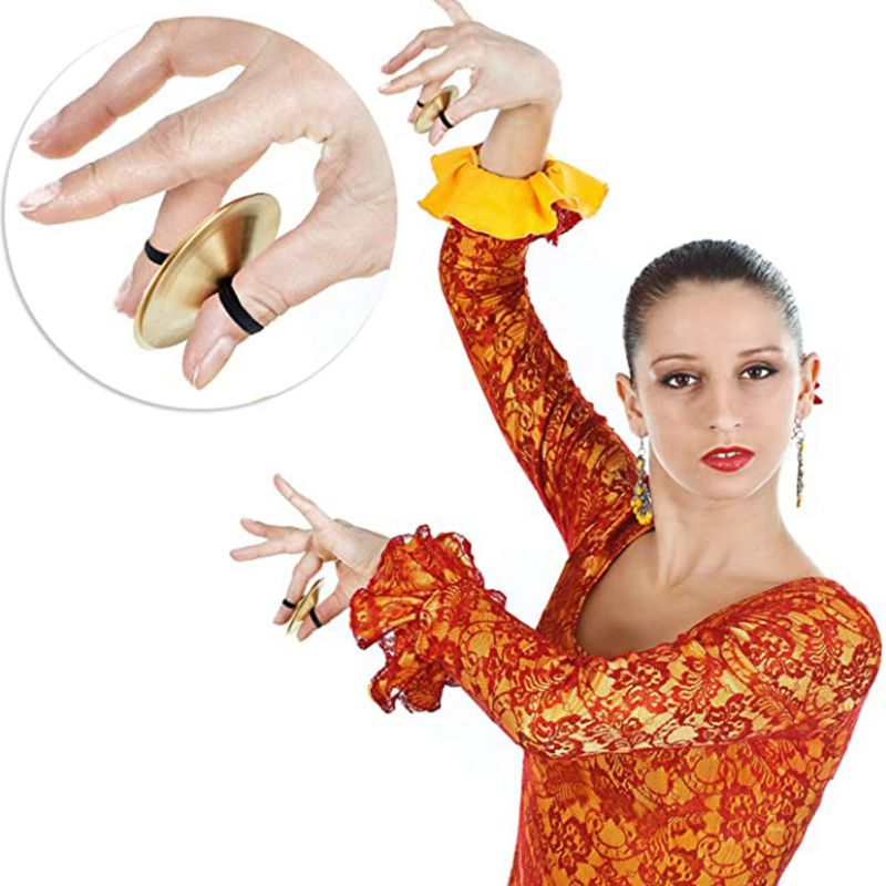 2pcs / 6PCS Finger Dance Belly Dance Finger Dance Golden Dance Finger Instrument Suitable For Dance Party