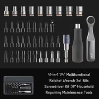 41 in 1 Multifunctional Ratchet Wrench Set Bits Screwdriver Kit DIY Household Furniture Repairing Hand Tool