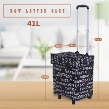 E-FOUR Outdoor Aluminum Folding Shopping Trolley Dolly with Wheels and Bag Lightweight Grocery Laundry Utility Cart Portable Car цена