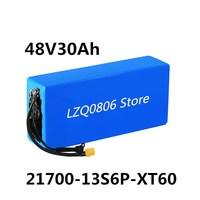 Li ionen batterie 13s6p, 48V, 30ah, 21700 / 5000mAh, verwendet für roller, elektrische fahrrad und XT60 stecker
