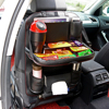 Onever Car Seat Back Hanging Organizer Bag Universal Auto Multi pocket PU Leather Pad Cups Storage Holder Bag Foldable Shelf