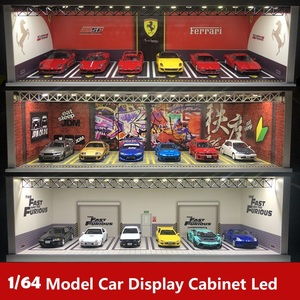 Display Cabinet Bright Scene Carport Led Light with USB interface JDM Nissan Nismo for Scale 1:64 Diecast Model Car