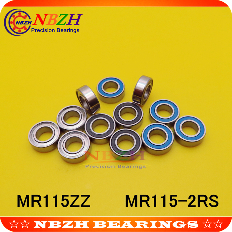 new 50pcs MR115-2RS Rubber Sealed Ball Bearing Miniature Bearing 5 x 11 x 4mm