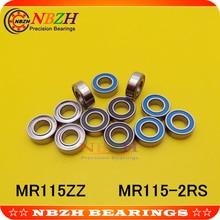 NBZH цена продажи 10 шт. MR115ZZ MR115-2RS SMR115ZZ SMR115-2RS 5X11X4 мм Глубокие шаровые подшипники MR115/L-1150 ZZ