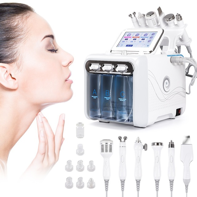 6 In 1 Water Dermabrasion Machine Deep Cleansing Equipment Water Jet Hydro Diamond  Facial Whitening Lifting For Home Salon