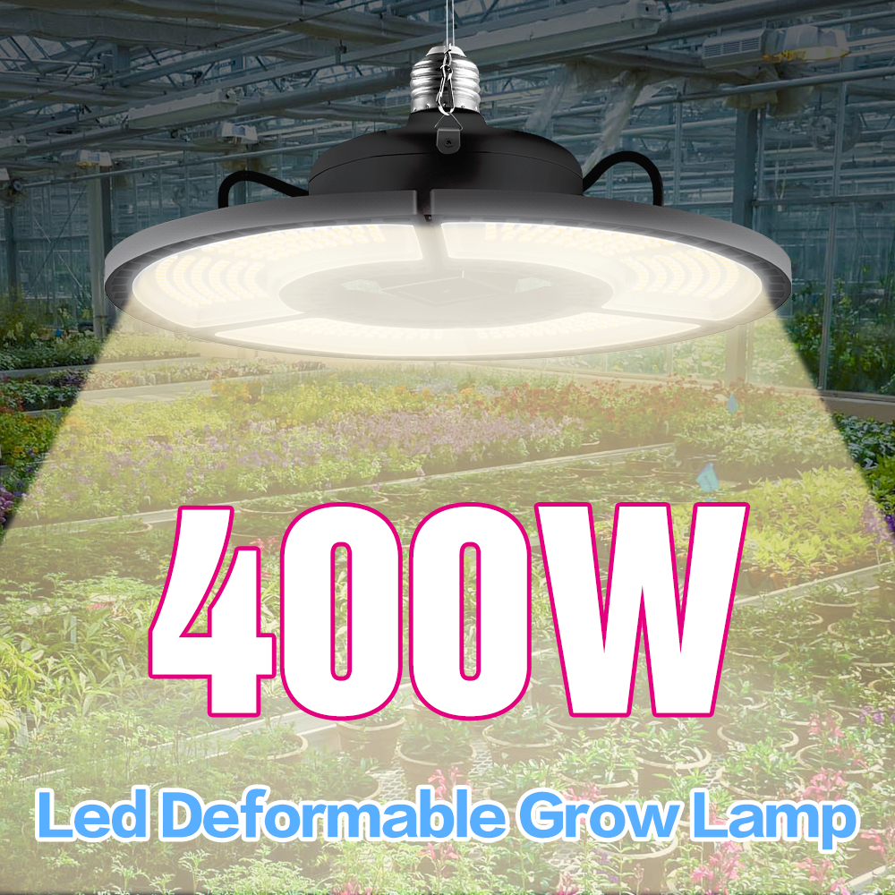 E27 LED Grow Light White 100W 200W 300W 400W LED Plant Light Bulb 110V E26 LED Full Spectrum Growing Lamp 220V Greenhouse Lamp